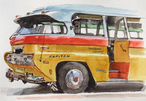 Maltese Bus Illustration by James Gurney