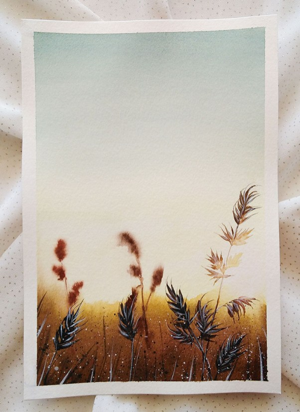 Nesrine Ziadi watercolor Grass Doodlewash