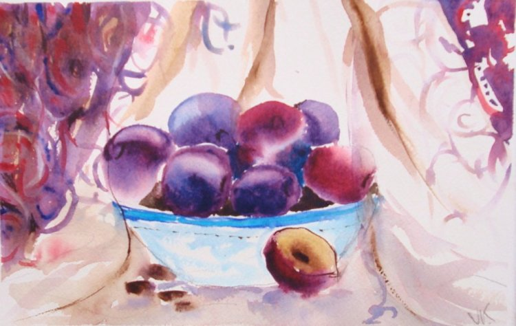 Plums, so cold, sweet and delicious. After William Carlos Williams's poem, This is Just to Say
