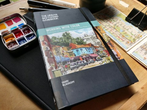 Working With Color Book Urban Sketching by Shari Blaukopf