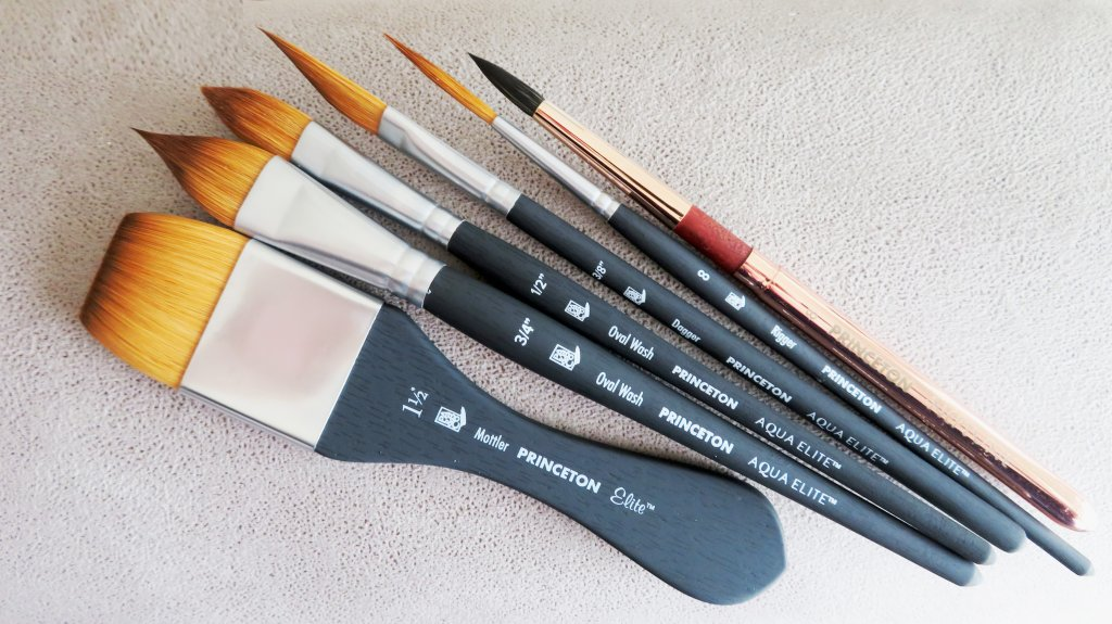 Princeton Aqua Elite NextGen Artist Brush Size 0 Series 4850 Synthetic Kolinsky Sable for Watercolor Round