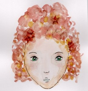 My first ever watercolour face. face one