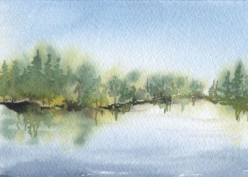 Watercolor Landscape by Susan Chiang