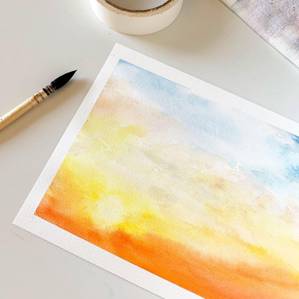Watercolor Sunrise by Susan Chiang - Doodlewash