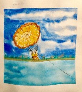 #doodlewashAugust2019 #TravelFun #WorldWatercolorGroup Day 4: Sailing 13479891-D3E7-4E9B-9CF0-989783