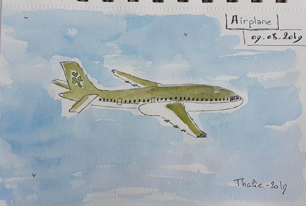 9 – Airplane. Vert comme notre dernier avion pris pour aller en Irlande 9-Airplane