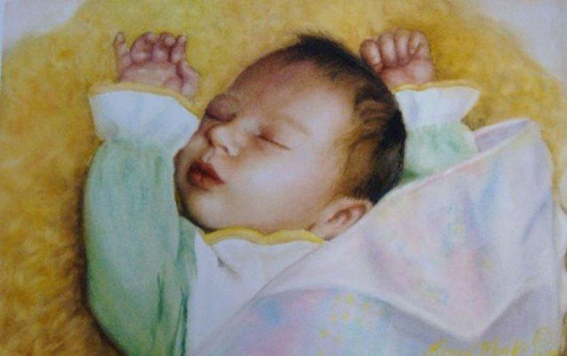 Baby Waterolor Painting Renee Marks