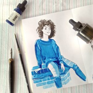 Phthalo Blue Blue ink