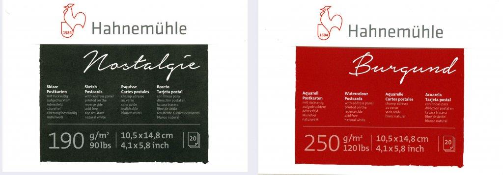 Hahnemühle Postcards Nostalgie Burgund