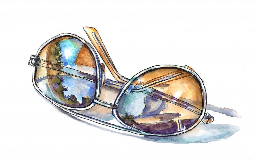Sunglasses Watercolor Illustration