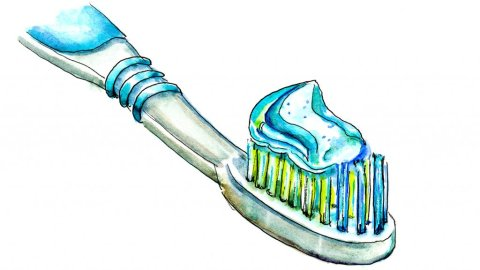 Toothbrush Toothpaste Illustration