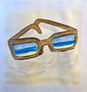#doodlewashAugust2019 #TravelFun #WorldWatercolorGroup Day 14: Sunglasses E23C3026-E80A-4DC2-847C-80