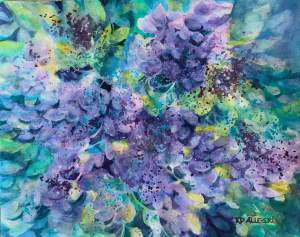 Texas Mountain Laurel, Desert Series 16″ x 20″ Hahnemühle Cézanne 140# Cold Press Pape