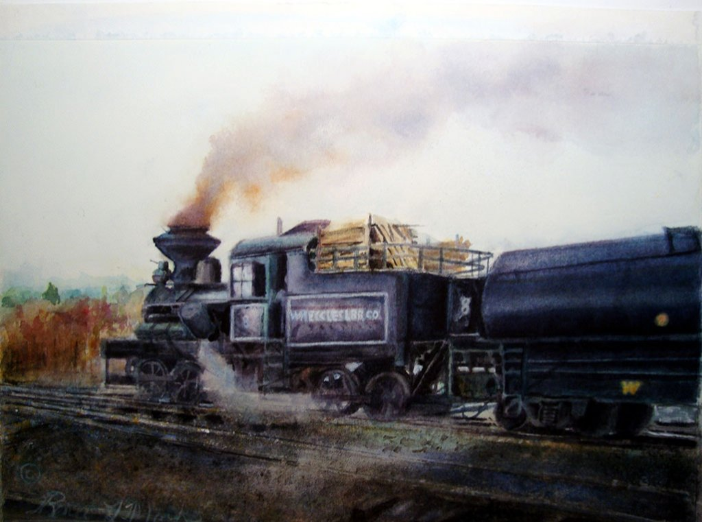 Train Watercolor Painting Renee Marks