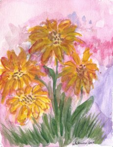 """Another """"Blossoming"""" and """"Splashes of Color"""" for World Watercolor Month prom"""