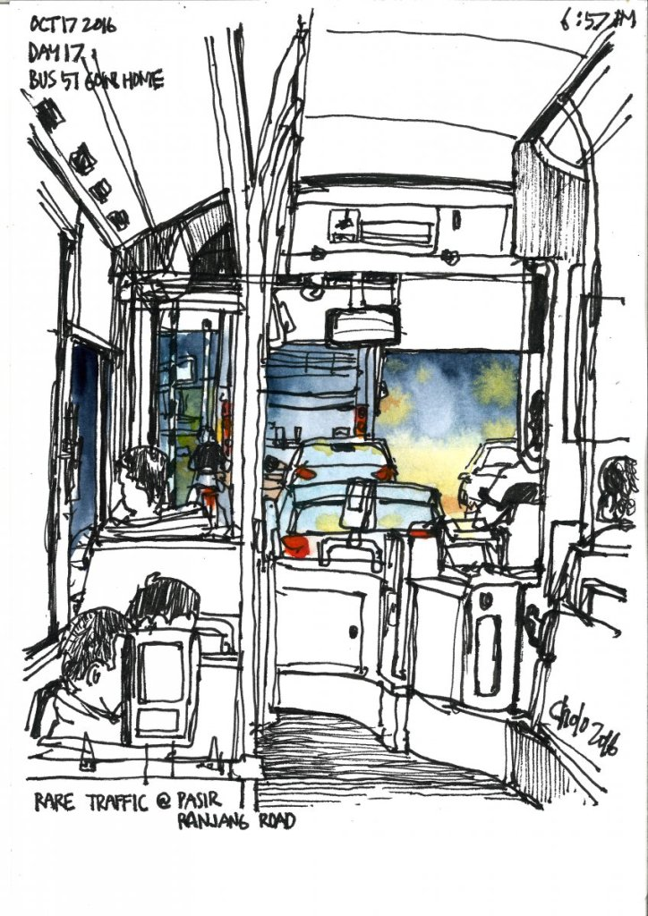 Going Home inside the Bus bus 51bus 143