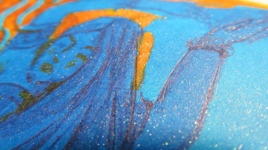 Example of pairing Kyanite du Népal ink with Cornaline d'Egypte ink