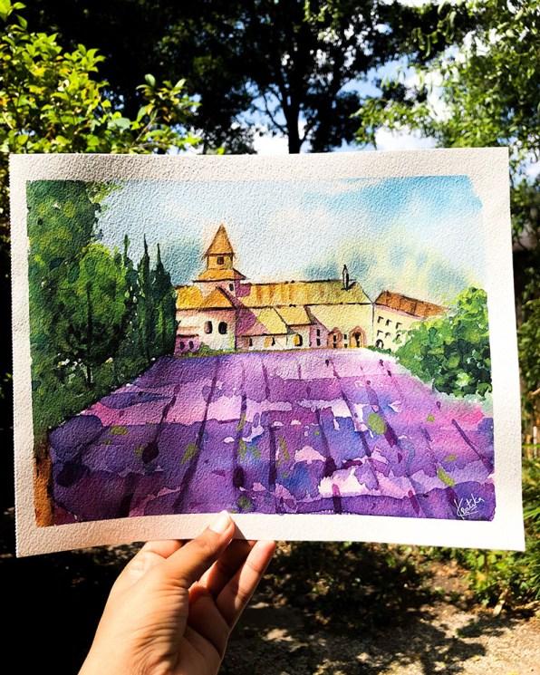 Plein Air Watercolor Painting by Kratika Agarwal