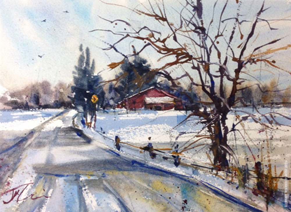 After the Storm Watercolor Painting by Judith Haynes Levins