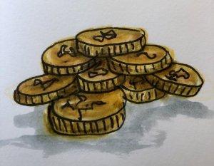 #doodlewashSeptember2019 #everydaythings Day 21: Coins BAF2AF16-BFD5-461F-AB85-5EE9ACDBA3AA