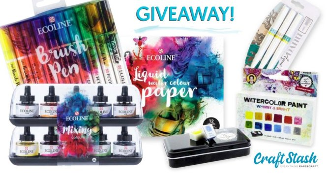 CraftStash Watercolor Art Supplies Doodlewash Giveaway Sharing Graphic