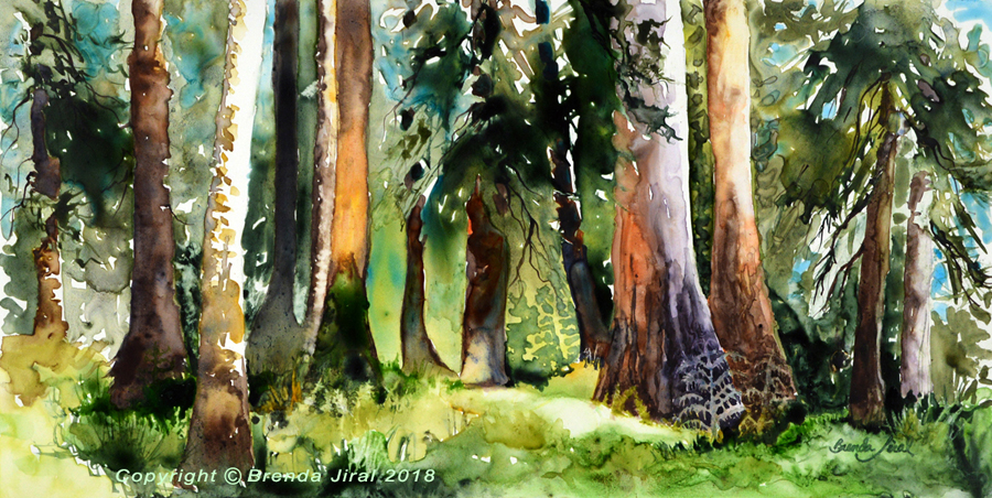 """""""Enchanted"""" Watercolor on Mineral paper Enchanted, small watermark"""