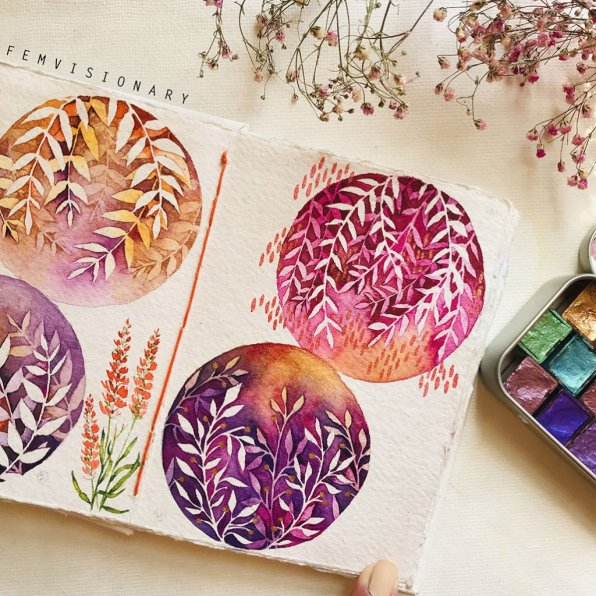 Femvisionary Madhu Sankar Leaf Designs