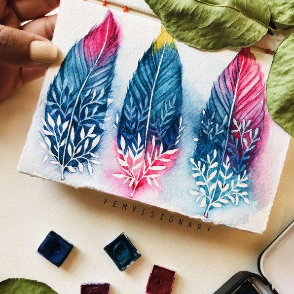 Femvisionary Madhu Sankar Three Feathers