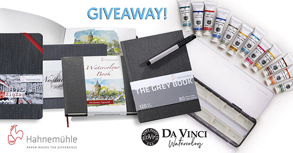 Hahnemühle Sketchbooks and Da Vinci Watercolor Giveaway Image