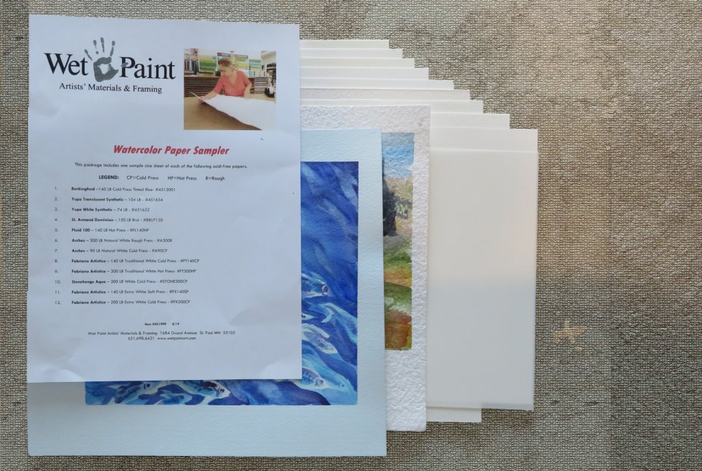 Wet Paint Watercolor Paper Sampler Pack