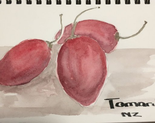 Keys and fruit from New Zealand. They are Tamarillos or Tree Tomatoes..delicious. Thank you for your