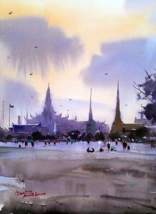 Watercolour Landscape painting by Abey Zoul