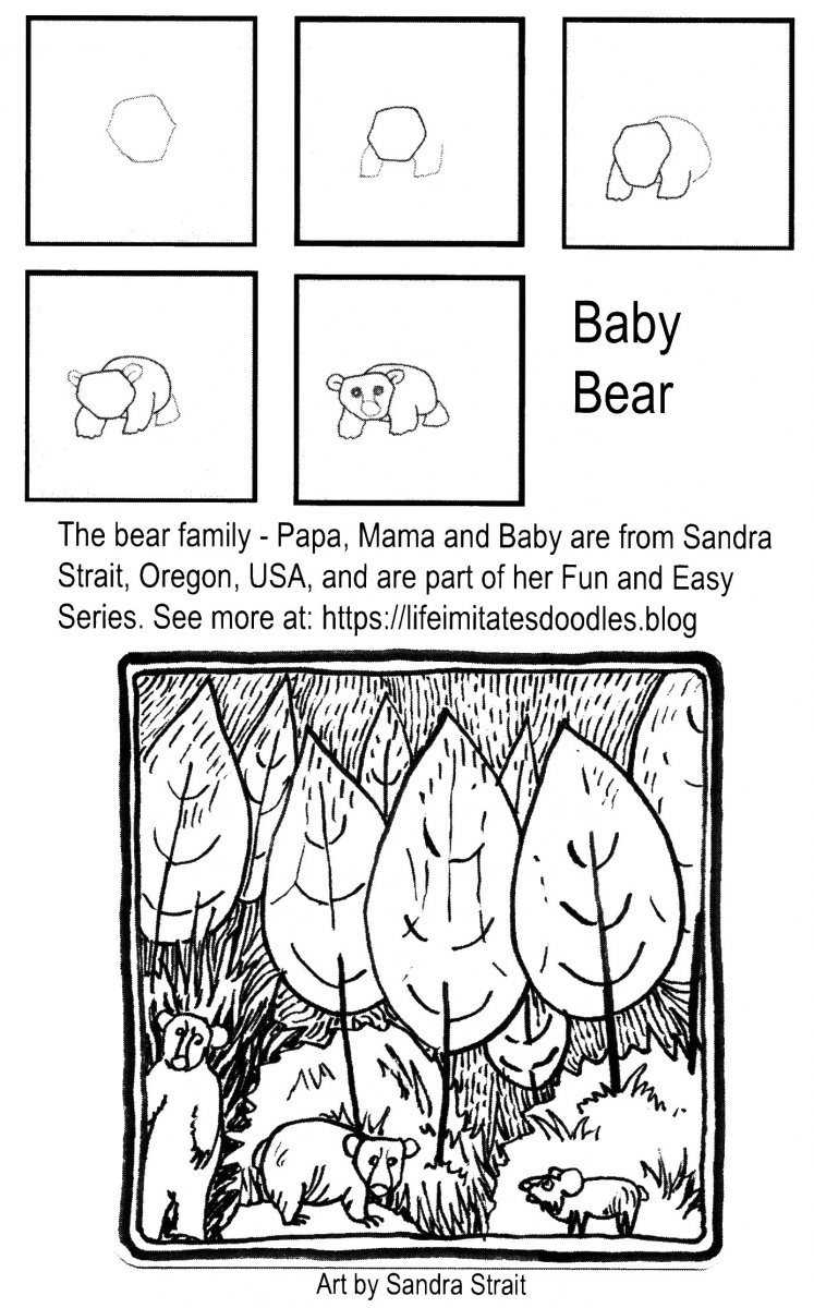 Baby Bear Pattern Example Alice Hendon Book