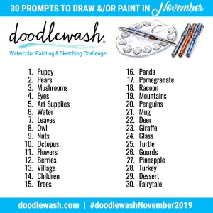 Drawing Painting Prompts Doodlewash November 2019