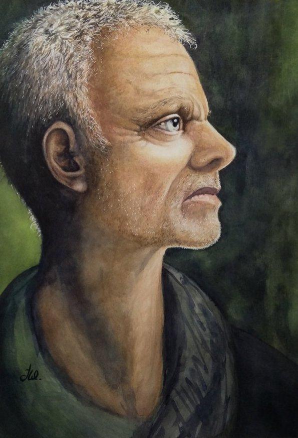 Man Portrait Watercolor by Teresa Whyman Tesartmania