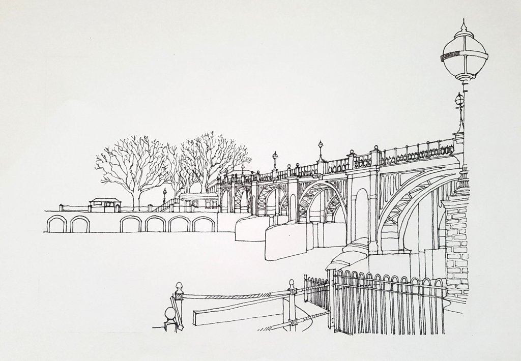 Richmond Lock and Weir Illustration