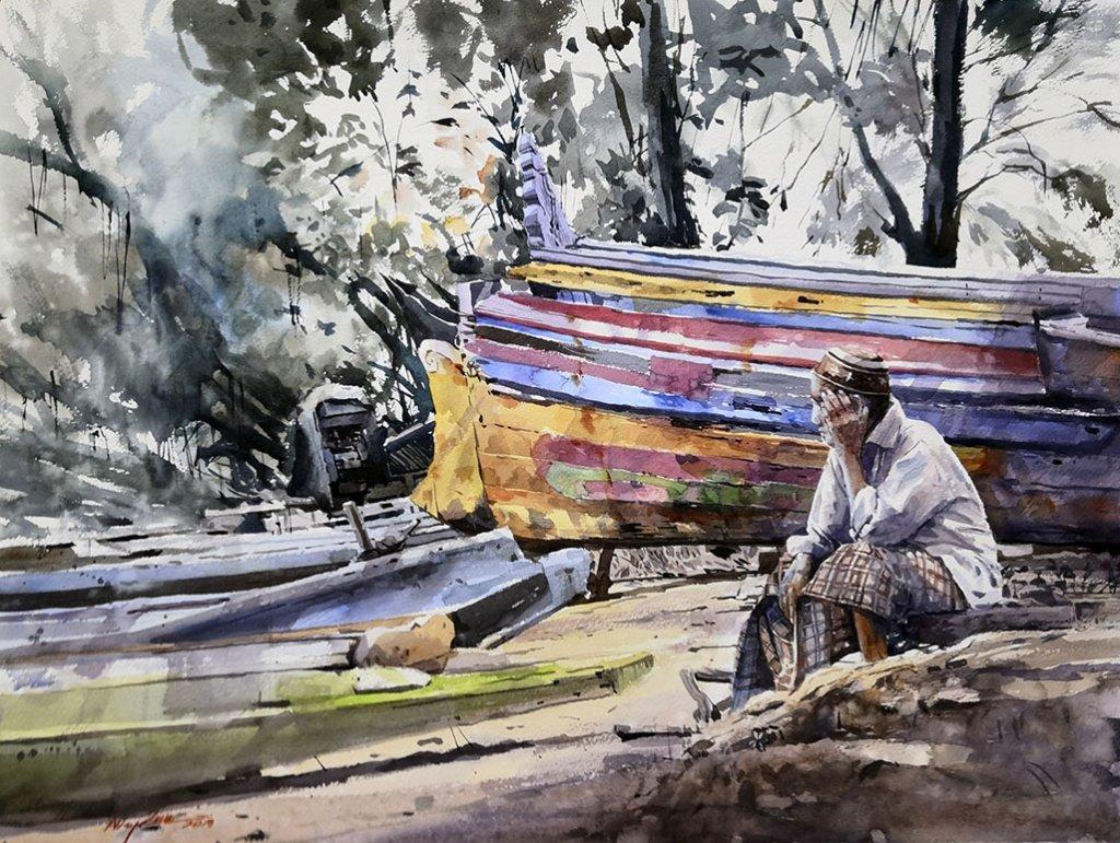 WAITING FOR BETTER SEASON Watercolour Abey Zoul