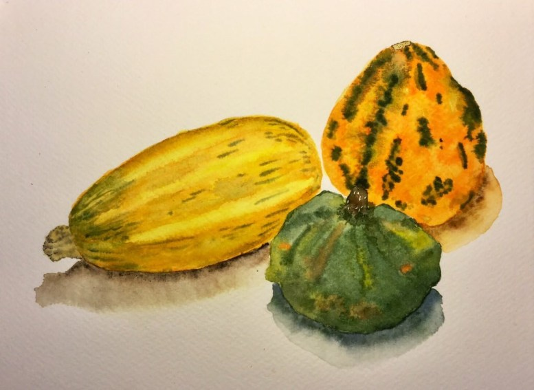 Watercolor Vegetables Ariel Blocker