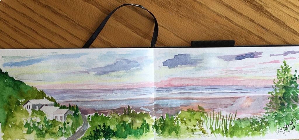 Watercolor Painting landscape study