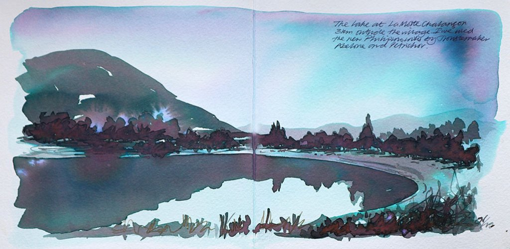Troublemaker Abalone and Petrichor inks Nick Stewart Fountain Pen Ink Art