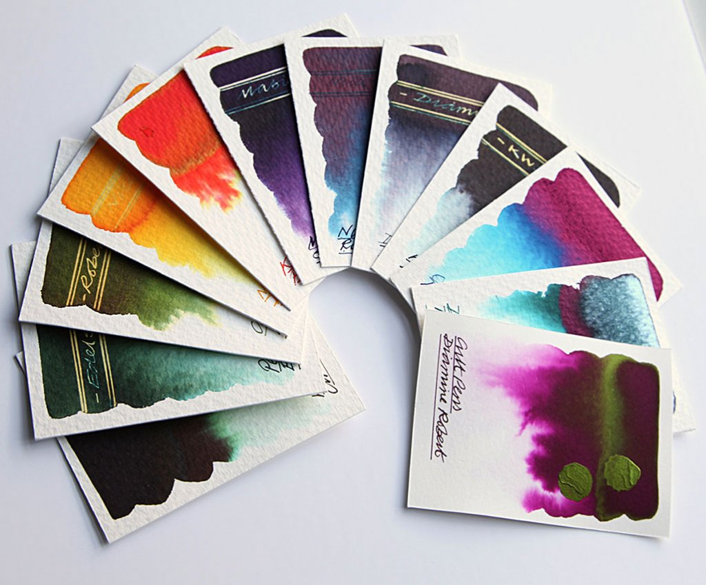 Nick Stewart Fountain Pen Ink Swatch Cards
