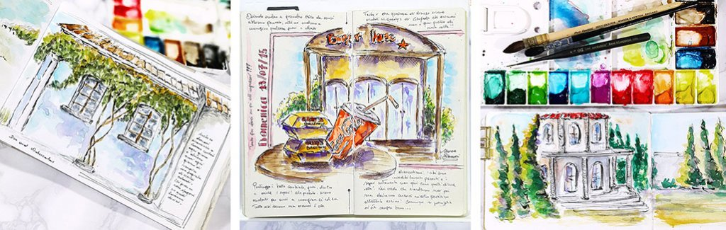 Watercolor Sketching Journal Pages Marsia Bramucci
