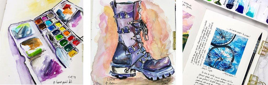 Watercolor sketches by Marsia Bramucci