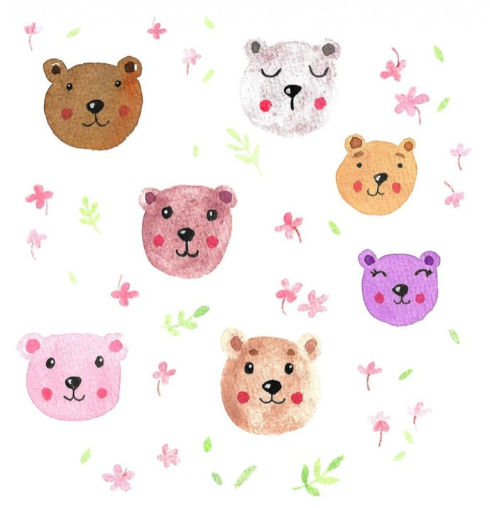 bears_pattern DearAnnArt
