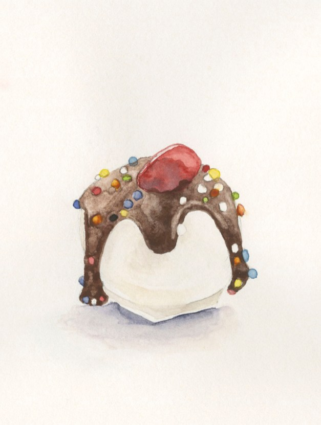 cakeball watercolor painting