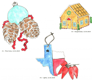I've been drawing / painting each day but am behind on posting SO I scanned these as one objec