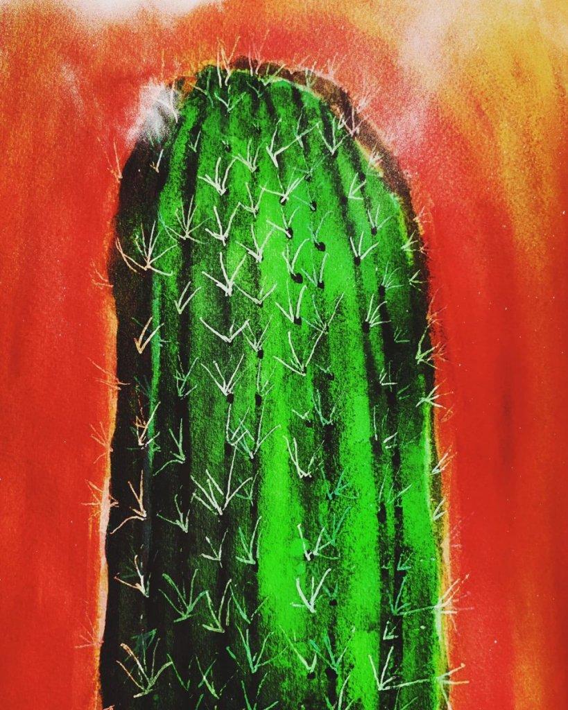 #watercolor #windsornewton #archescoldpress #signogelpen #cactus D41FAE9D-9E76-40F3-BD0C-F993A0C7B8A