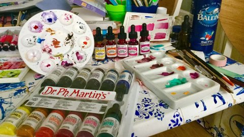 Dr Ph Martin's Liquid Watercolors Review Bottles Product Shot