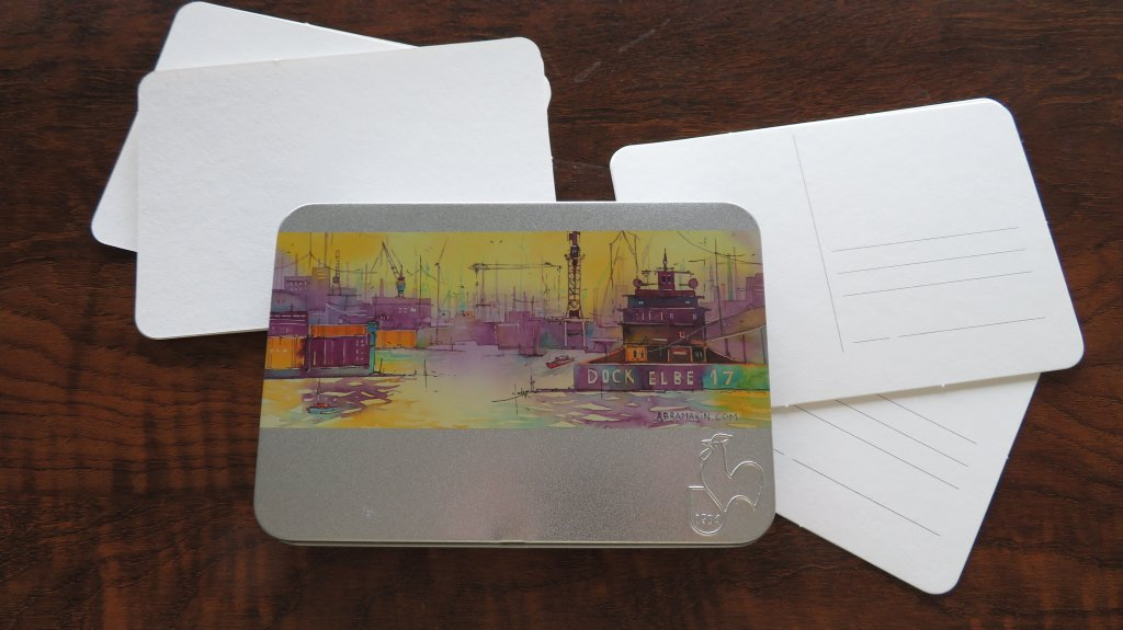 Art Supplies Hahnemühle Watercolor Postcards in a TinProduct Photo