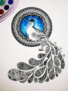 This is my recent doodle art work on peacock ❤️.I hope you all like it. IMG_20191217_2